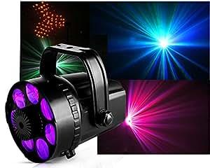 Ibiza 7EYES-MINI Projecteur Effets 6 couleurs LED