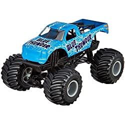 Hot Wheels Monster Jam Blue Thunder Die-Cast Vehicle, 1:24 Scale