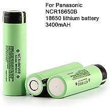2pcs/Lot Original 186503,7V 3400mAh para Panasonic pilas de batería recargable NCR18650B baterías seguras Uso industrial