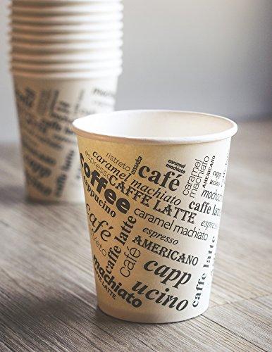 Premium Kaffeebecher to go - 100 Stk. – Hochwertige hitzebeständige Einweg Becher aus Pappe - 200 ml - für Heißgetränke Aller Art – Perfekt für unterwegs - 100% recyclebar