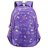 Macbag Schulrucksack Bookbag Durable Camping Rucksack für Jungen und Mädchen (Lila)