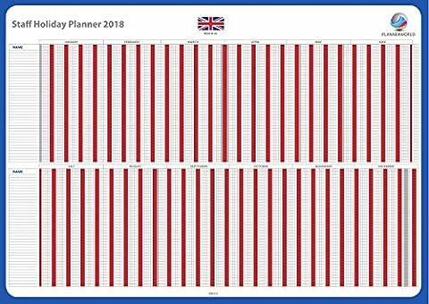 Plannerworld 2018Tableau de planning Vacances du personnel