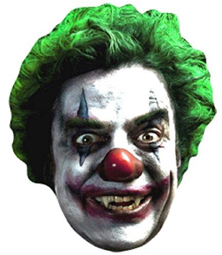 Star Cutouts Bedruckte Gesichtsmaske von Scary Clown Gesicht Maske