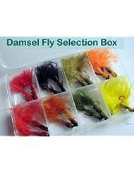 Pêche Mouches Demoiselles Sélection Boîte de 16mouches de pêche pour Truite Lot # 305