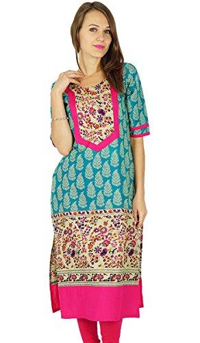 Phagun indischen Bollywood Designer Kurta Frauen Ethnische Kurti Tunika-Kleid -