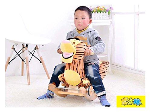 Tickles Tiger Plush Baby Rocking Chair Children Wood Swing Seat Kids Outdoor Ride on Rocking Cradle Toy 50 cm