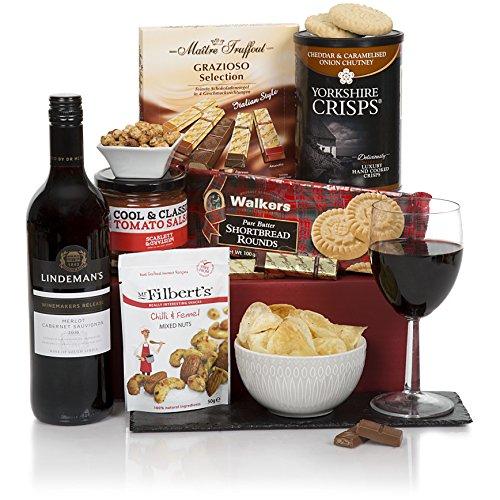 Regalo de vino tinto para él - Cestas para hombres y de regalo para él - Cestas de regalo de cumpleaños
