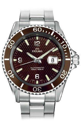 Delma Herrenuhr 407005-Armbanduhr Herren, Armband aus Metall Farbe Silber