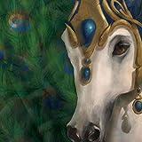 Unbekannt WL ss-wl-20561, 38,1x 38,1cm handbemalt Rio Karneval Pferd Zeichen Leinwand Wand Kunst, 15von 38,1cm