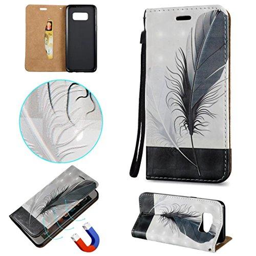 Galaxy S8 Hülle, COWX PU Leder Hülle für Samsung Galaxy S8 Tasche Schutzhülle Handyhülle