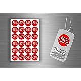 Lot etiquette sticker autocollant promotion soldes magasin promotion - -50% / x 1008