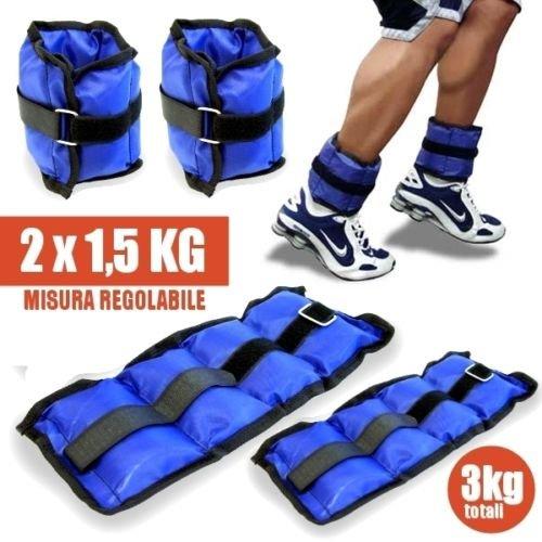 Pesi caviglie polsi cavigliera sport arti marziali fitness cavigliere peso (3,0 kg)