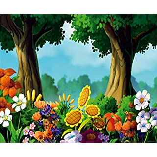 AG DESIGN Forest Giant Wall Poster, Non Woven, Multi-Colour, 360 x 270 cm