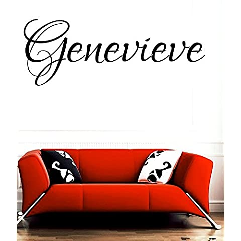 Genevieve nome di bambina o bambino Nome Nome della Stanza da parete Citazione Arte in vinile