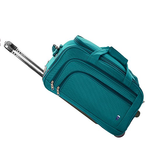 Novex Polyester 50 Cms Turquoise Soft Sided Travel Duffle