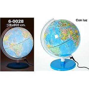 DonRegaloWeb – Globo terráqueo- en color azul con lámpara led con base acrílica