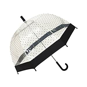 SMATI parapluie transparent petits points noirs cloche lady (Fille)