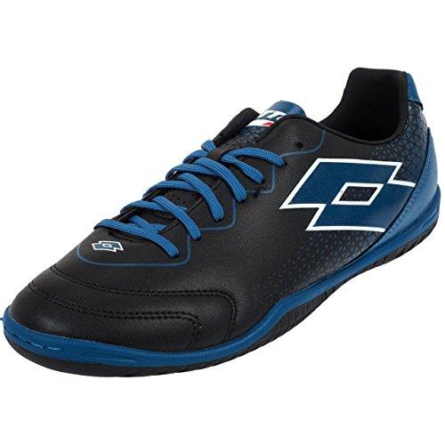 Lotto Spider 700 XV Id, Chaussures de Futsal Homme, Noir (Blk/Blu Oil 010), 45.5 EU