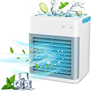HXDream Portable Air Conditioner, Air Cooler Fan 2000 mAh Mini Air Conditioner with 3 Speed Modes Desk Fan wit