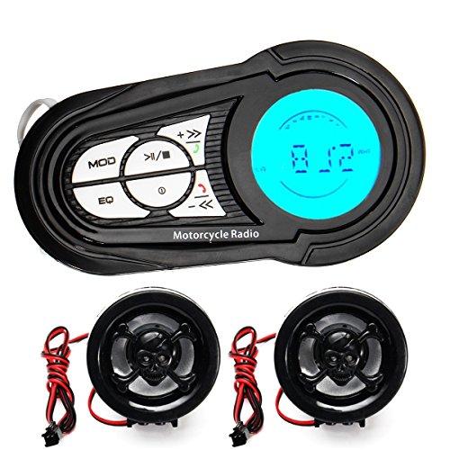 Alamor Impermeable moto Audio Radio Anti - theft sistema estéreo MP3 USB...