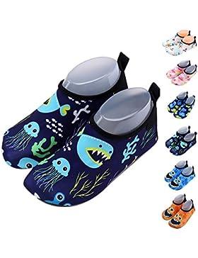 Zapatos de niño Zapatos de agua de natación Niños Zapatos de niños descalzo Aqua calcetines para la piscina de...