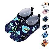 Xueliee Kleinkinder-Schuhe für Kinder Schwimmen Wasser Schuhe für Jungen, Mädchen, barfuß Aqua Schuhe Strand Schwimmen, Jellyfish shark 22-23