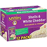 Annie's Homegrown Shells & White Cheddar 170 g (Pack of 12)