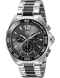 TAG Heuer Men's Formula 1 43mm Steel Bracelet & Case Swiss Quartz Grey Dial Analog Watch CAZ1011.BA0843