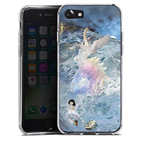 Apple iPhone X Silikon Hülle Case Schutzhülle Schwan Collage Kunst Silikon Case transparent