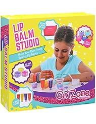 GirlZone: Lippenbalsam Set Selber Machen - Kinderschminke Set - 22 Teile - Labor der Lippenstifte & Kinderkosmetik Make-up-set - Geschenk für Mädchen 6-10 Jahre alt- Kreatives für Mädchen