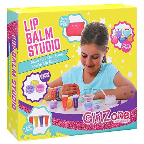 galileo parfum GirlZone: Lippenbalsam Set Selber Machen - Kinderschminke Set - 22 Teile - Labor der Lippenstifte & Kinderkosmetik Make-up-set - Geschenk für Mädchen 6-10 Jahre alt- Kreatives für Mädchen