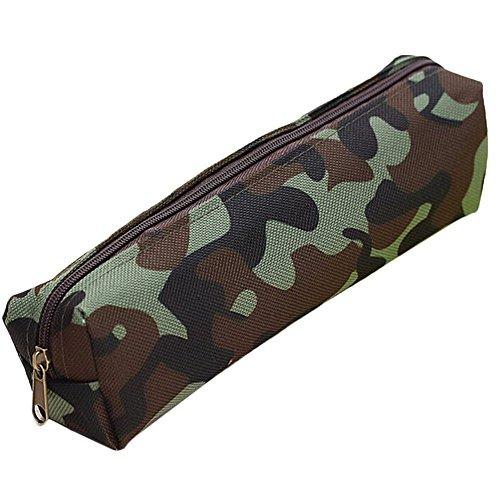 Federtasche, Minkoll Student Camouflage Kids Combat Army Federmäppchen (Camouflage Green)