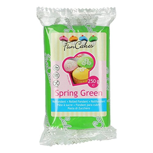 FunCakes Pasta di Zucchero Verde Primavera, 250 grammi