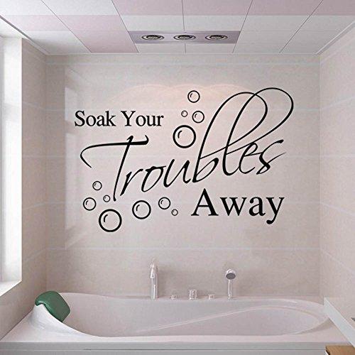 lchen Soak PVC pared adhesivo para el hogar baño Antecedentes decoración extraíble