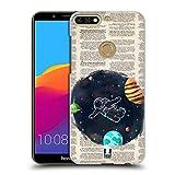 Head Case Designs Raum Buchseitenabbildungen Ruckseite Hülle für Huawei Honor 7C / Enjoy 8