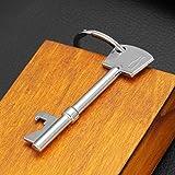 Gazechimp Schlüssel Geformte Flaschenöffner Anhänger 3,1 cm Silber, Tragbar