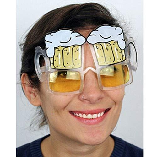 WWVAVA Party Brille Gelbe biergläser Hen Party Fancy Dress neuankömmling Bier Brille Sonnenbrille lustige Mode accessies, gelb