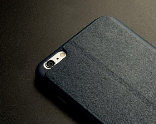 "iPhone 6S Plus Coque, HICASER Full-Body Protection Case, Premium Housse en Cuir Etui La Fonction Stand pour Apple iPhone 6 Plus / 6S Plus 5.5"" Rose Or Navy"