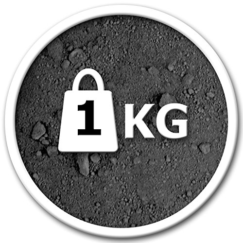 @tec Premium Pigmentpulver, Eisenoxid, Oxidfarbe - 1kg Farbpigmente/Trockenfarbe für Beton + Wand - Farbe: schwarz (Pigment-farbe)