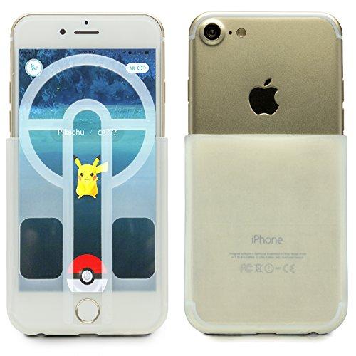 Mobilefox Silikonhülle Pokéball-Zielhilfe für Pokémon Go Apple iPhone 7/6/6S Weiß
