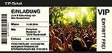 150 Einladungskarten Geburtstag | Motiv Konzertticket | Zum selber bedrucken | Professionelle Vorlagen | originell, witzig, individuell