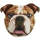 Rosewood 14004 Pet Faces luxusweiches Velourskissen 'Englische Bulldogge' als Deko für Ihr Haus, Größe: circa 38 x 50cm