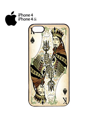 King Card Game Mobile Phone Case Cover iPhone 5c White Noir