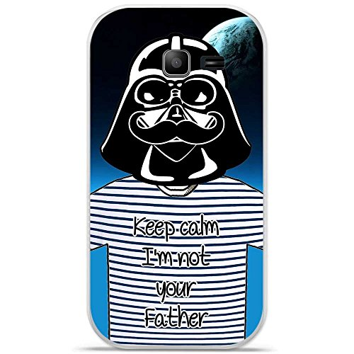 Coque TPU gel souple Samsung Galaxy Trend Lite design Dark Moustache