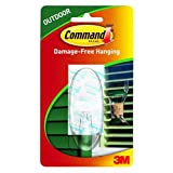 Command Outdoor Window Hook, Large, Clear, 1-Hook (17093CLR-AWES) by Command