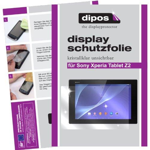 dipos I 2X Schutzfolie klar passend für Sony Xperia Tablet Z2 Folie Bildschirmschutzfolie
