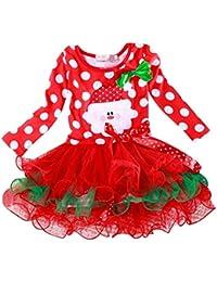 Girls Dress, Koly Nouvel An Robe à pois de Noël