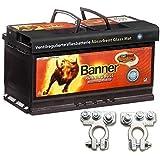 Bannière Article de camping non-tissé Batterie AGM Running Bull 92Ah 12V Batterie avec bornes broches voiture bateau caravane