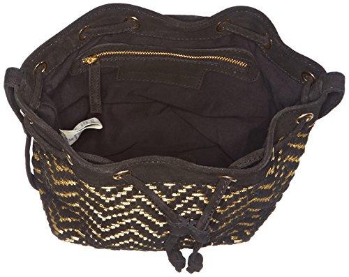 Petite Mendigote Soho, Sac porté épaule Noir (Black)