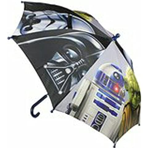 (STAR WARS YODA-R2-VADER 42CM TELA MANUAL) paraguas+ PACK TOBILLEROS REGALITOSTV